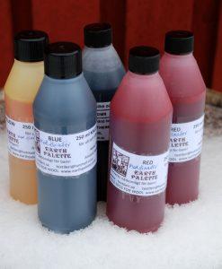 kallfärg på flaska