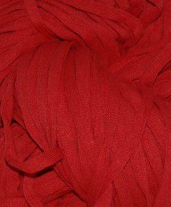 Röd lyxtrasa rundvävd